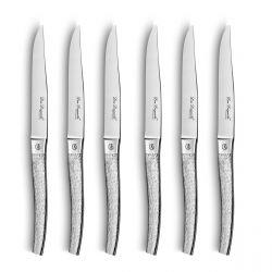 Alphonse - Coffret 6 couteaux steak Finition écorce