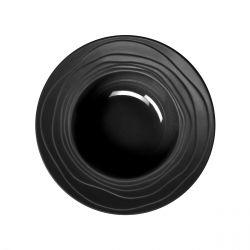 Escale Noir - Coffret 6 assiettes creuses à aile