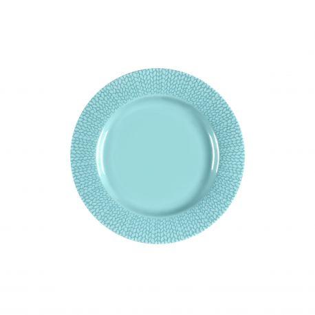 Grain de Malice Turquoise - Coffret 6 assiettes dessert