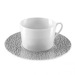 Baghera Platine - Coffret 6 tasses et soucoupes thé