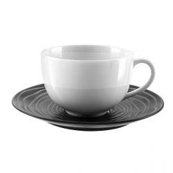 Escale Noir - Coffret 6 tasses et soucoupes déjeuner