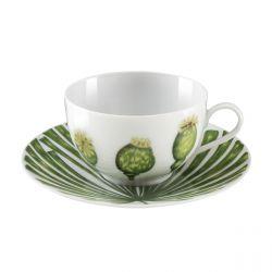 Ikebana  - Coffret 6 tasses et soucoupes café