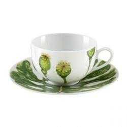 Ikebana  - Coffret 6 tasses et soucoupes thé