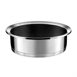 Ycône - Sauteuse 24cm inox revêtement Greblon C3