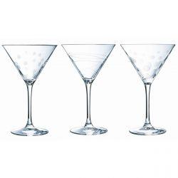 Cocktail - Coffret cadeau 6 verres taillées 30cl